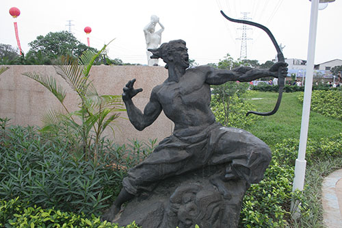 后羿射日雕塑-玻璃钢_广州雕塑工艺厂-雕塑设计制作