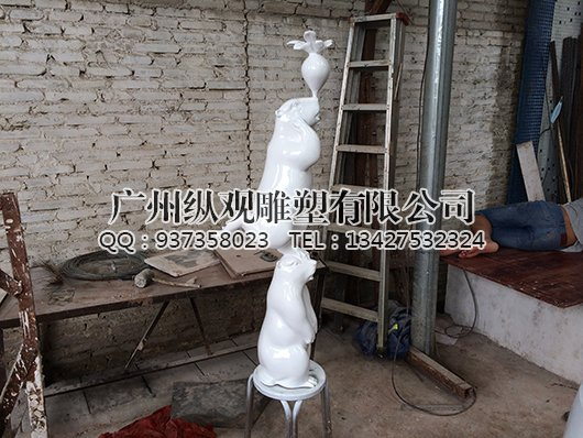 玻璃钢卡通小动物_广州雕塑工艺厂-雕塑设计制作公